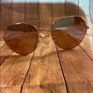 Fashion Nova Matrina Beach Rose Gold Sunglasses